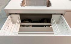A gaveta da Dell Anno conta com um espaço para a cuba, um recurso que aproveita ao máximo o espaço. Foto: Divulgação