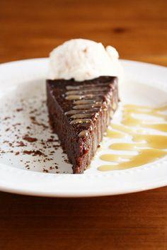Flourless Chocolate Cake with Salted Caramel Sauce