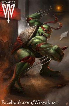 Raphael (Raph) - Teenage Mutant Ninja Turtles - By Wizyakuza Ninja Turtles Art, Teenage Mutant Ninja Turtles, Tattoo Ninja, Tmnt Characters, Turtles Forever, Arte Dc Comics, Cartoon Games, Classic Cartoons, Cultura Pop