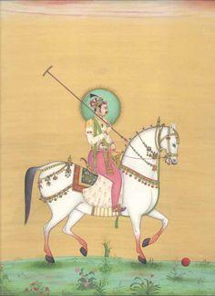 Mughal Prince playing polo
