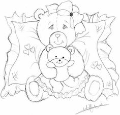 Paper Piecing Patterns, Embroidery Patterns, Pet Rocks, Cute Bears, Coloring Book Pages, Digital Stamps, Pattern Blocks, Fabric Painting, Animal Paintings