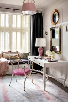50 Favorites for Friday, South Shore Decorating. The week's best rooms, colorful bold pink, purple, lavender and orange decor Room Planning, Luxury Decor, Elegant Homes, Furniture Arrangement, Cool Rooms, Elle Decor, Home Goods, Furniture Design, Exterior