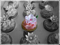 Daisy and Camellia Cupcake