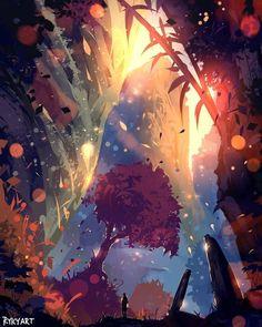 51 Enigmatic Forest Concept Art That Will Amaze You - fantasy - Digital Art Fantasy, Fantasy Art, Art Environnemental, Environment Concept, Fantasy Landscape, Environmental Art, Art Background, Storyboard, Digital Illustration