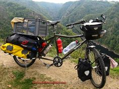 Loaded touring bikes, of all kinds, shapes and sizes...