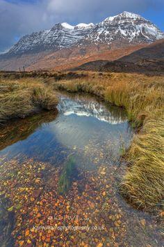 Liathach in Torridon from Lochan an Iasgair, Scotland