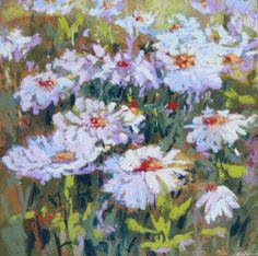 Daisies A framed - Original Fine Art By Ginny Stocker