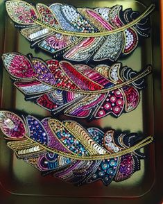 And for the order of the same please write to Direct or WhatsApp ❗️ # handmade_ru_jewellery Felt Embroidery, Bead Embroidery Jewelry, Hand Embroidery Designs, Embroidery Stitches, Beaded Jewelry, Embroidery Patterns, Handmade Jewelry, Motifs Perler, Beads Pictures
