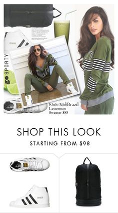 """Go Sporty!"" by pokadoll ❤ liked on Polyvore featuring adidas Originals, Martha Stewart, adidas and rickibrazil"