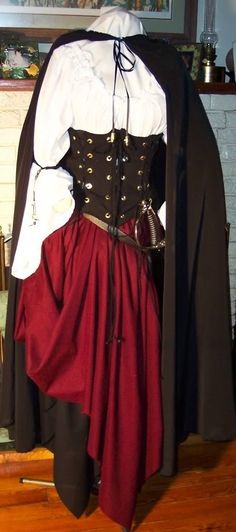 Pirate Wench Renaissance corset custom costume by zachulascrypt, $225.00
