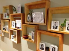 Hallway display showing images of the educators.