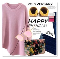 """""""Celebrate Our 10th Polyversary!"""" by svijetlana ❤ liked on Polyvore featuring Dsquared2, Acne Studios, Bobbi Brown Cosmetics, polyversary, contestentry and twinkledeals"""