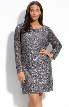 plus size gold metallic sequin dress new years style ...