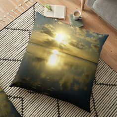 Ocean Sunset, Patterns In Nature, Beautiful Sunset, Nature Pictures, Floor Pillows, Pillow Covers, Art Prints, Printed, Awesome