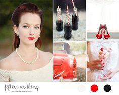 50s wedding inspiration board | rockabilly wedding http://weddingwonderland.it/2014/11/ispirazione-anni-50.html