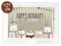 Custom Christmas Card-Last Minute Christmas/Holiday Card-Ready Christmas On A Budget, Family Christmas, Christmas Shopping, Christmas Holidays, Merry Christmas, Custom Christmas Cards, Personalised Christmas Cards, Holiday Cards, Last Minute Holidays