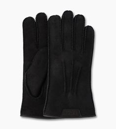 Casual Gloves w/Debossed Leather Logo by Ugg