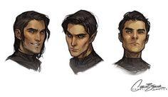 Cassian, Rhys, and Azriel