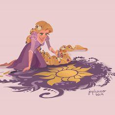 And I only had to listen to the whole soundtrack 4 times to finish this. Disney Rapunzel, Disney Pixar, Disney Fan Art, Disney E Dreamworks, Walt Disney, Disney Princess Art, Tangled Rapunzel, Cute Disney, Disney Animation