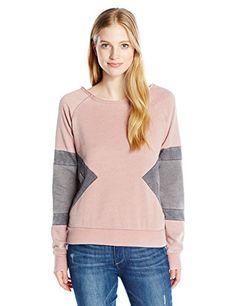 d473cffd6a9 Rip Curl Juniors East Shore Crewneck Colorblock Pullover Sweatshirt Lilac M      Read more