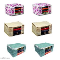 Apparel Storage Saree Bag  (Pack Of 6) Material:  Non Woven Size (L X H X W ) : 16 in x 12 in x 9 in Description: It Has 6 Pieces Of Saree Bag  Work: Printed Sizes Available: Free Size *Proof of Safe Delivery! Click to know on Safety Standards of Delivery Partners- https://ltl.sh/y_nZrAV3  Catalog Rating: ★4 (459)  Catalog Name: New Useful Organisers Saree Bag Vol 2 CatalogID_626495 C131-SC1628 Code: 463-4363166-