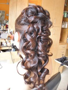 long half updo hair wedding