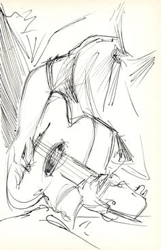 Guitarist - Original Pen & Ink Sketch - Archivally Matted and Mounted for Standard Frame Guitarist - original pen & ink sketch on lightweig. Guitarist - Original Pen & Ink Sketch - Archivally Matted and Mounted for Standard Realistic Drawings, Art Drawings Sketches, Easy Drawings, Pencil Drawings, Sketches Of Eyes, Animation Sketches, Cartoon Sketches, Cool Sketches, Creative Sketches
