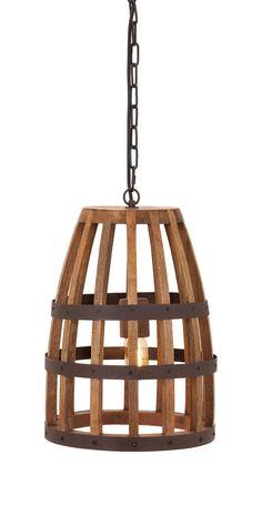 Classy Foley Wood Cage Pendant Light