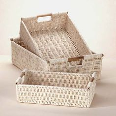 Corn husk baskets