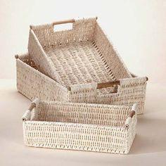 Corn husk baskets