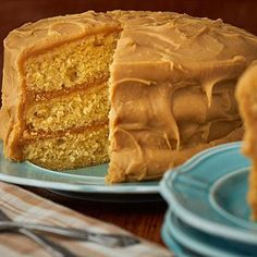 Savannah Candy Kitchen's signature creamy caramel recipe like you have never seen it before! Three moist layers of yellow cake baked to perfection, then we coat it with our special, handcrafted caramel icing. Perfect for any dessert table or buffet. Creamy Caramel Recipe, Caramel Recipes, Fudge Recipes, Candy Recipes, Pasta Recipes, Sweet Recipes, Flan, Carmel Cake, Mexican Food Recipes