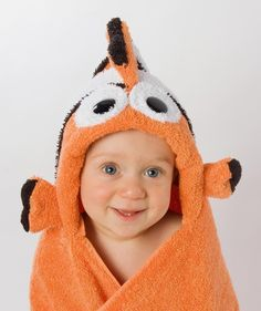 Hooded Towel For Kids - Clownfish