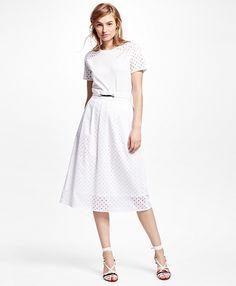 Cotton Eyelet SkirtWhite