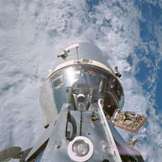Apollo Command Module taken from the Lunar Module after docking