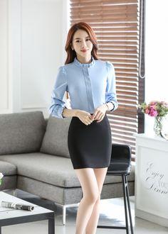 Pretty Korean Girls, Cute Asian Girls, Beautiful Asian Women, Office Fashion, Fashion Outfits, Womens Fashion, Suits For Women, Her Style, Rock