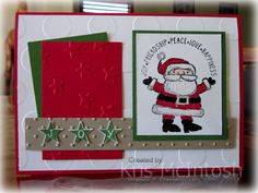I made this for the a challenge.  More details on my blog http://stampingwithkris.com/2014/09/28/get-your-santa-on/