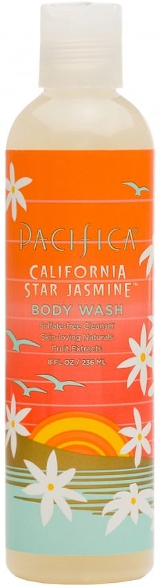 Pacifica California Star Jasmine Body Wash is a SLS & Paraben free Body Wash. Dreamy, beautiful star jasmine is woven into subtle, lush driftwood notes. Bright orange shines at the top. Carefree & sun-kissed. Body Wash is 100% Vegan. Suitable for Dry Skin. #BodyWash #Pacifica #Aromatherapy #CaliforniaStar #Jasmine