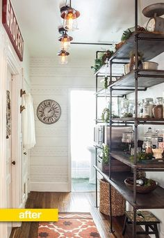 Pantry Before & After: An Empty Hallway Turned Pipe Shelf Pantry — Pantry Makeover