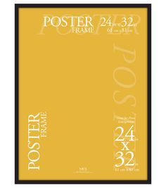 24x32 Black Gallery Poster Frame