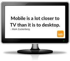 Mark Zuckerberg zur Nähe von Mobile zu TV