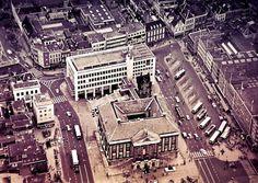 De Grote Markt in Groningen van boven gezien in 1965 foto:serc.nl