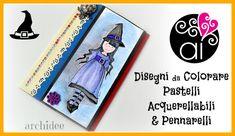 Scrapbooking Tutorial | Colorare disegni con pastelli acquerellabili e pennarelli | DIY Drawings