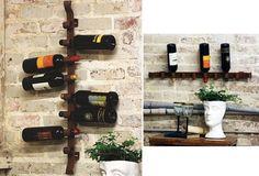 Horizontal or Vertical Metal Wine Bottle Holder - From Antiquefarmhouse.com - http://www.antiquefarmhouse.com/current-sale-events/industrial-decor9/wine-holder.html