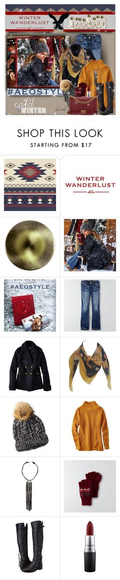 """Winter Wanderlust with American Eagle: Contest Entry"" by eula-eldridge-tolliver ❤ liked on Polyvore featuring American Eagle Outfitters, Houlès, Salvatore Ferragamo, UGG Collection, MAC Cosmetics and Chanel"