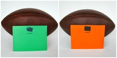 Super Bowl Favors...state silhouette stationery #superbowl #seahawks #broncos