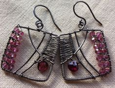 Pink Squares Earrings
