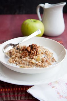 Apple-Date Steel-Cut Oats