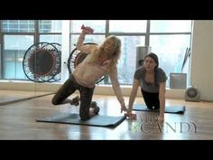Tracy Anderson Daily Candy arm workout to tone that spot under your armpit.