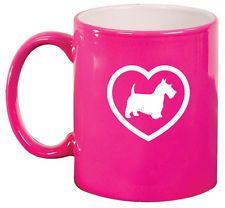 11oz Ceramic Coffee Tea Mug Glass Cup Scottie Scottish Terrier Heart