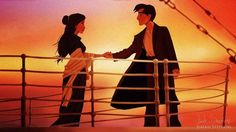 Il revisite les scènes célèbres de Titanic avec des personnages Disney  - Tous droits réservés ©